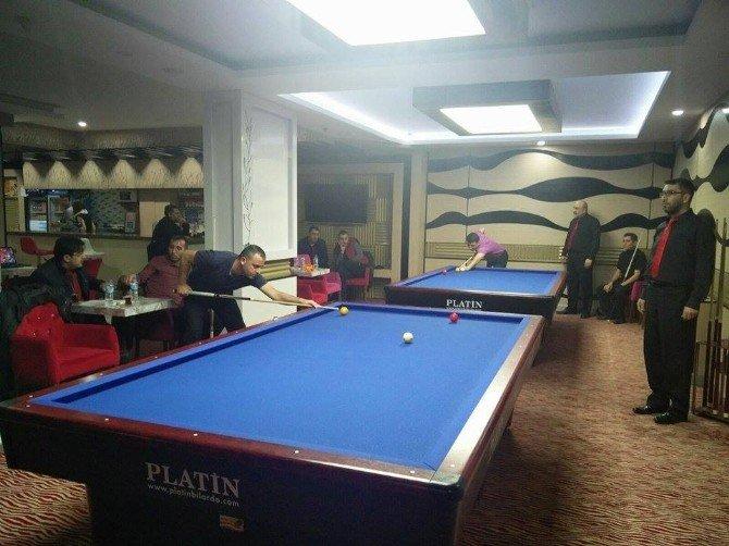 Nevşhir'de 3 Bant Bilardo Şampiyonası Yapıldı