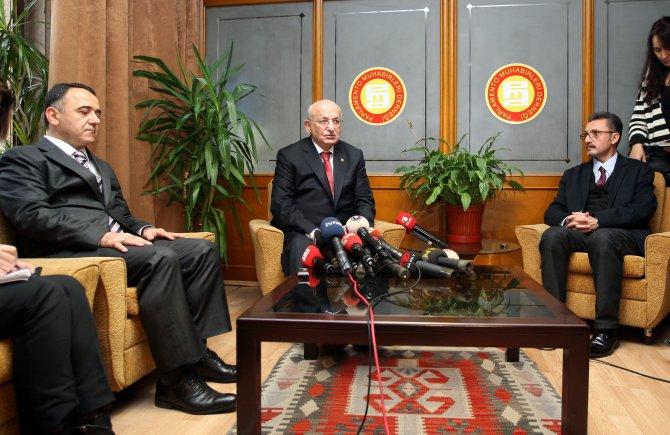 TBMM Başkanı Kahraman'dan parlamento muhabirlerine ziyaret