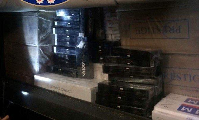 Afyonkarahisar'da Yaklaşık 70 Bin Paket Kaçak Sigara Ele Geçirildi