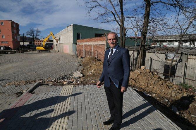 Bursa'da 30 metrelik yolda yeni yıkımlar