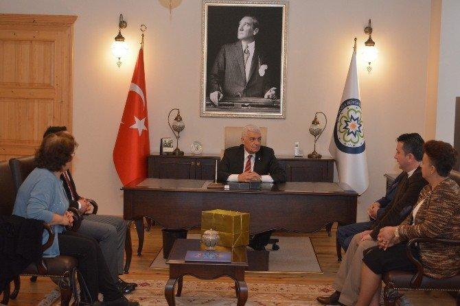 CHP Ortaca Ve Köyceğiz İlçe Başkanlarından Başkan Gürün'e Ziyaret
