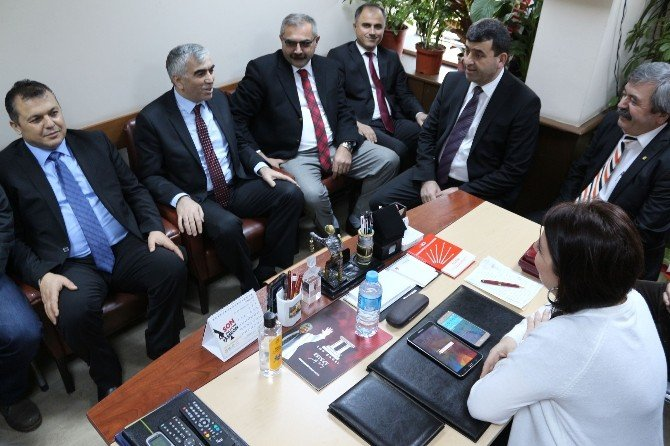 GMİS Yönetim Kurulundan CHP İl Ve İlçe Başkanlıklarına Ziyaret