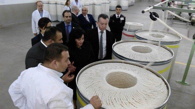 Vali Civelek'ten İplik Fabrikasına Ziyaret