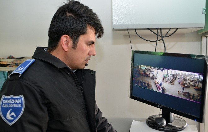 Pamukkale'de Pazaryerleri Güvenlik Kameralarıyla Donatıldı