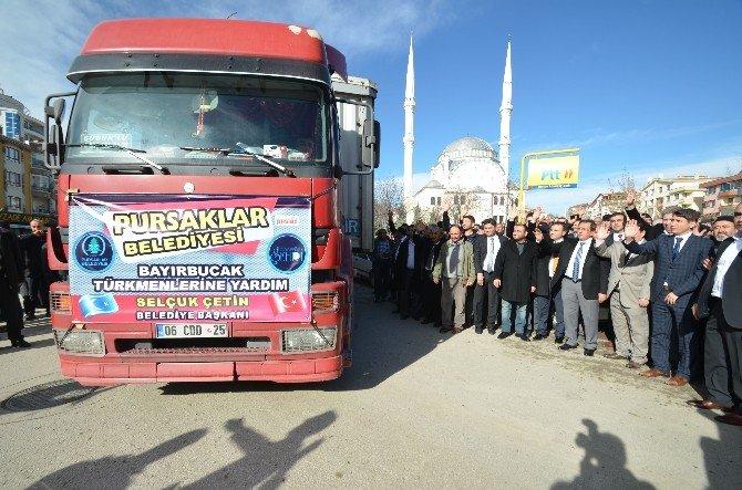 Pursaklar'dan Bayırbucak Türkmenlerine Yardım Tır'ı Yola Çıktı