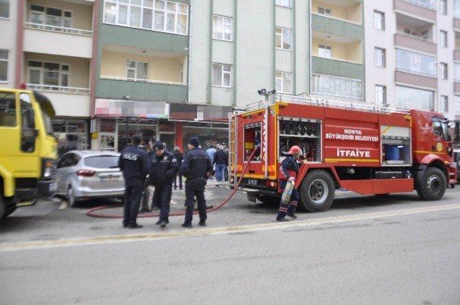 Seydişehir'de İş Yerinde Yangın