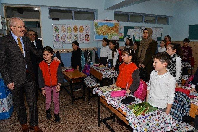 Söz Verdi Okula Başkan Kafaoğlu'nu Getirdi