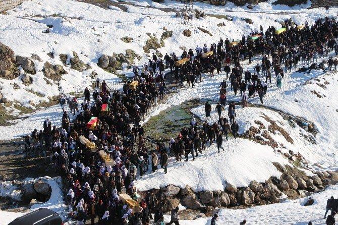 Cizre Ve Silopi'de Ölen 12 Kişinin Cenazesi Defnedildi