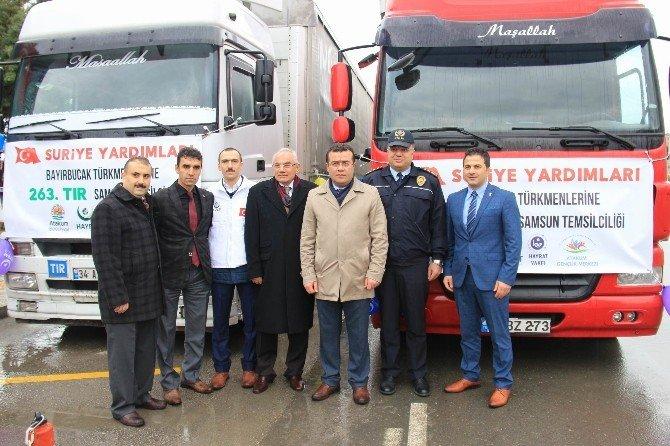 Atakum'dan Bayır Bucak Türkmenlerine Yardım