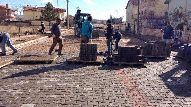 Avanos'ta Kilitli Parke Yol Yapımı Devam Ediyor