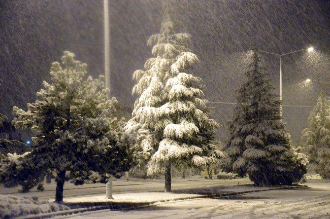 Başkent'te kar yağışı başladı
