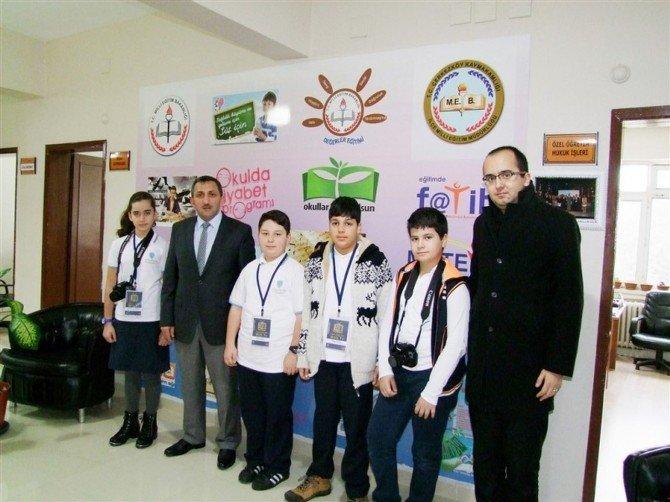 Öğrenciler Milli Eğitim Müdürü Erdoğan'la Röportaj Yaptı