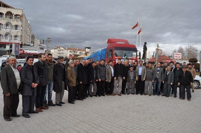 -Diyanet-sen'den Bayırbucak Türkmenlerine 1 Tır Patates