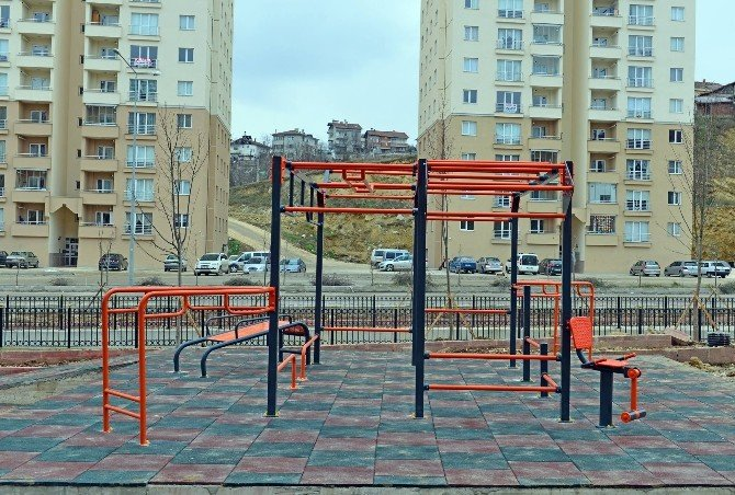 Kastamonu'da 'Street Workout' Parkuru Yapıldı