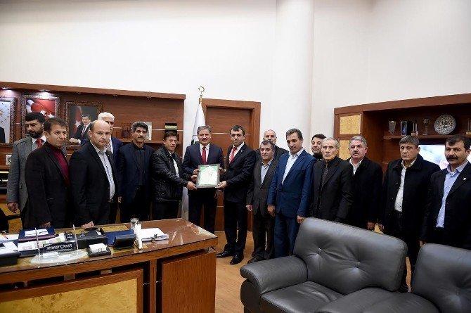 Malatya Tarım Ve Hayvancılık Platformu, Başkan Çakır'ı Ziyaret Etti