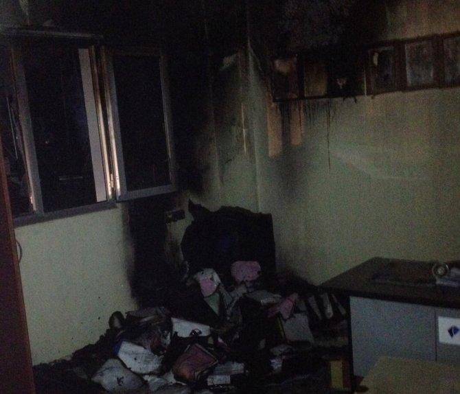 Nusaybin'de oto gaz dolum istasyonunda yangın