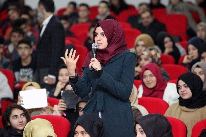 Antalya Büyükşehir Belediye Başkanı Menderes Türel İmam Hatip Lisesi Öğrencileriyle Buluştu