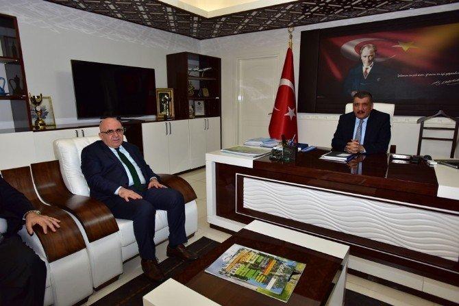 Miad Başkanı Akdaş, Başkan Gürkan'ı Ziyaret Etti