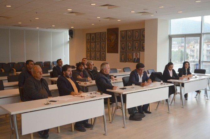 Başkan Toyran, Müteahhitlerin Sorunlarını Dinledi