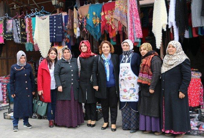 Sema Çiftçi, Büyükşehirle İş Yeri Sahibi Olan Kadınları Ziyaret Etti