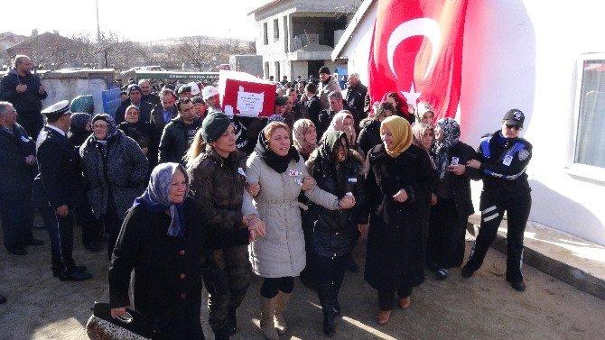 Şehidin Cenazesi Aksaray'a Getirildi