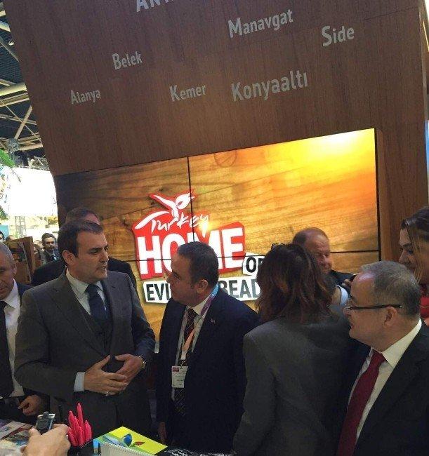 Başkan Böcek Hollanda'da Turizm Bakanı Ünal'ı Ağırladı