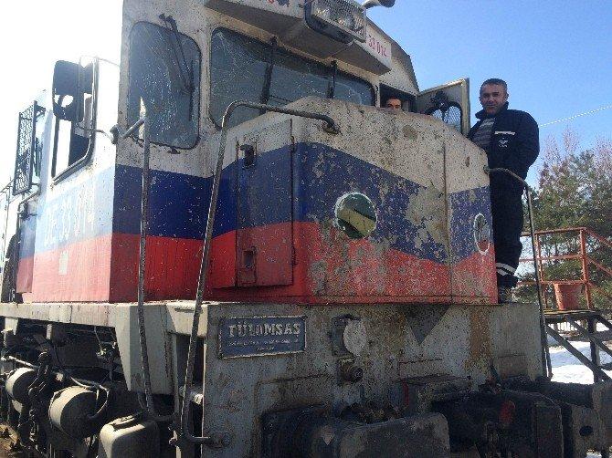 Bombalı Saldırıya Uğrayan Lokomotif Bakıma Alındı