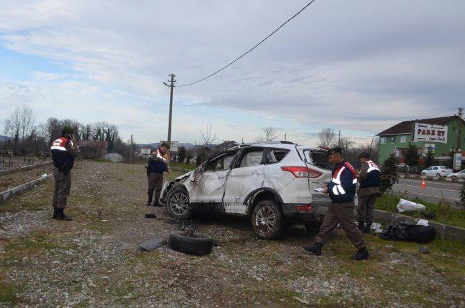 Zonguldak'ta trafik kazası: Sürücü öldü eşi tedavi altında
