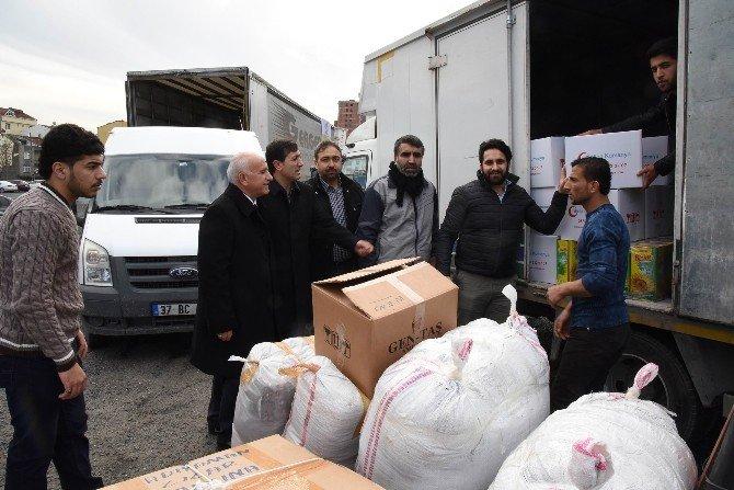 Adıyamanlılar Vakfı, Adıyaman'da Ki Suriyelilere 2 Tır Dolusu Yardım Gönderdi
