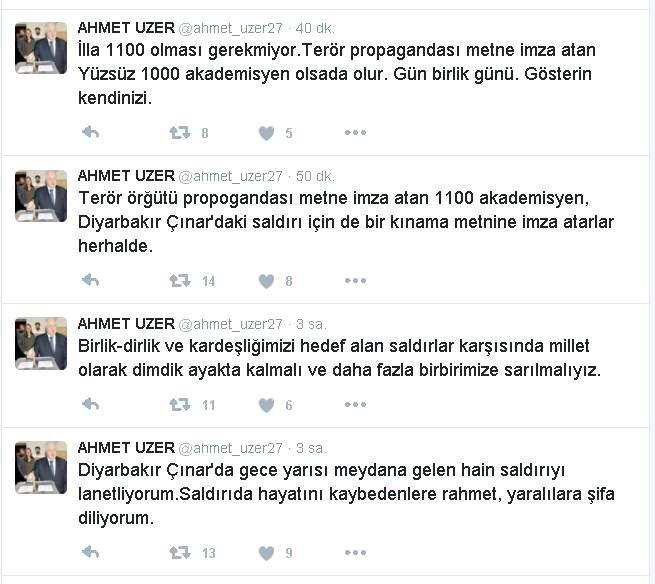 AK Partili Vekilden Çınar İçin Akademisyenlere İmza Çağrısı