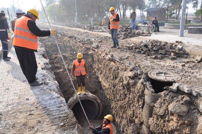 İlçelerin Altyapı Ve Yağmur Suyu Şebeke Sorununu Çözülüyor