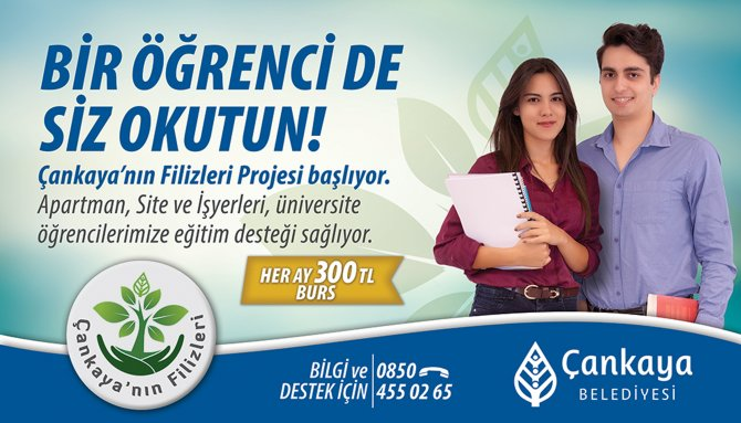 Çankaya Belediyesi'nden lisans öğrencilerine maddi destek