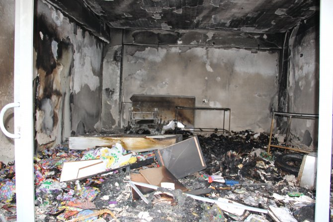 Çınar'da DBP binası yakıldı