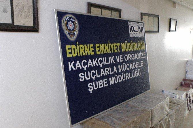 Edirne'de Sigara Kaçakçılığı