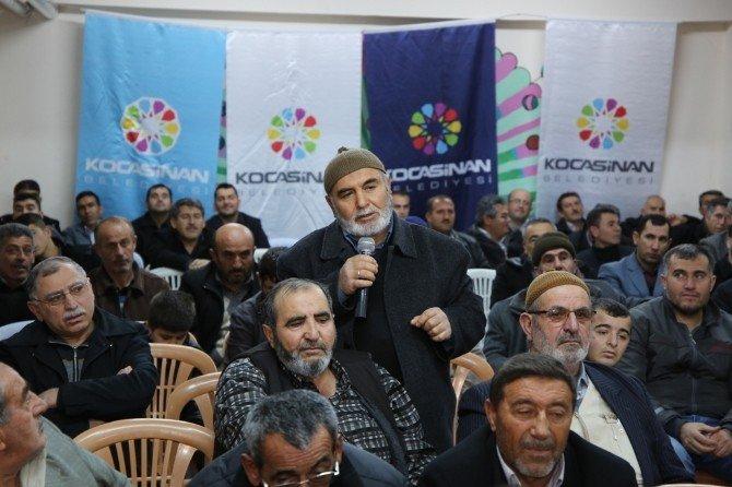 Başkan Çolakbayrakdar Yemliha'yı Dinledi