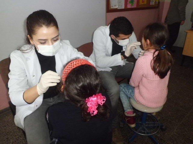 Öğrencilere, Ağız Ve Diş Sağlığı Taraması Yapıldı
