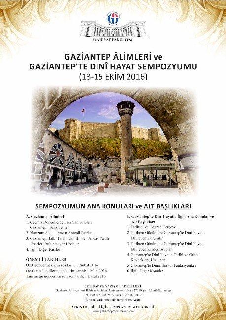 Uluslararası Gaziantep Alimleri Ve Gaziantep'de Dini Hayat Sempozyumu