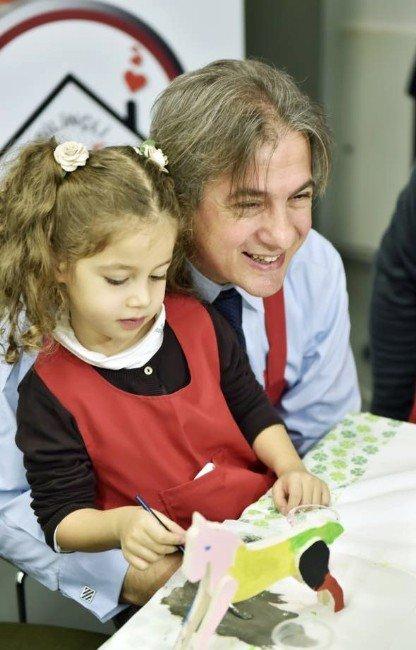 Babalarla Çocukları Oyun Masasında Buluştu