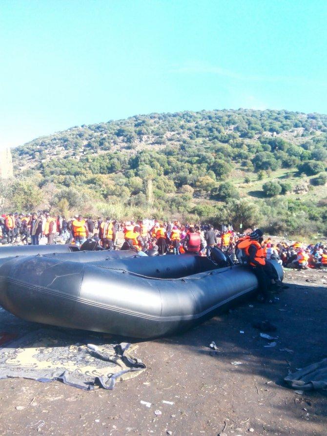 Çanakkale'de 837 göçmen ve 16 organizatör yakalandı