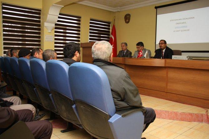 'Bitki Koruma Ürünü Uygulama Yetki Belgesi' eğitim toplantısı yapıldı
