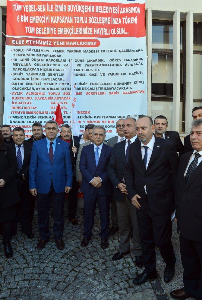 İzmir Büyükşehir Belediyesi toplu sözleşme imzaladı