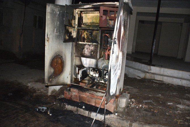 Elektrik Trafosunu Ateşe Verdiler