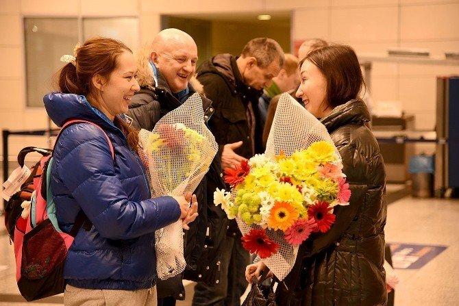 Rusya'ya 'Çiçekli' Jest