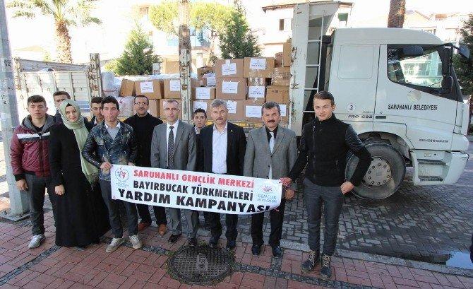 Bayırbucak Türkmenlerine Saruhanlı'dan Bir Kamyon Yardım