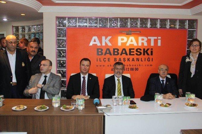 AK Parti Babaeski İlçe Teşkilatı Yeni Hizmet Binası Açıldı