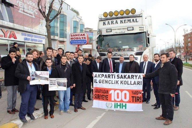AK Parti İl Gençlik Kolları Suriye'ye Bir Tır Dolusu Kömür Gönderdi