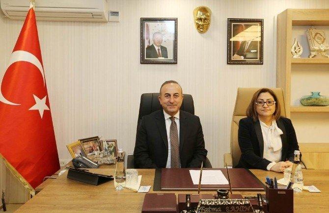 Bakan Çavuşoğlu Ve Büyükelçiler'den Şahin'e Ziyaret