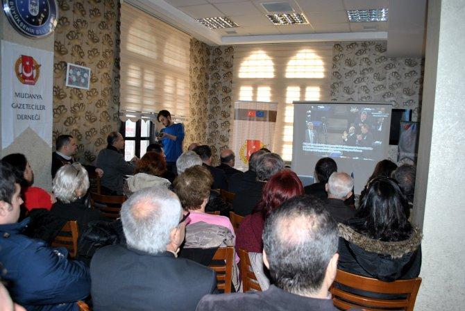 Mudanyalı gazetecilerden belgesel filmli proje kapanışı