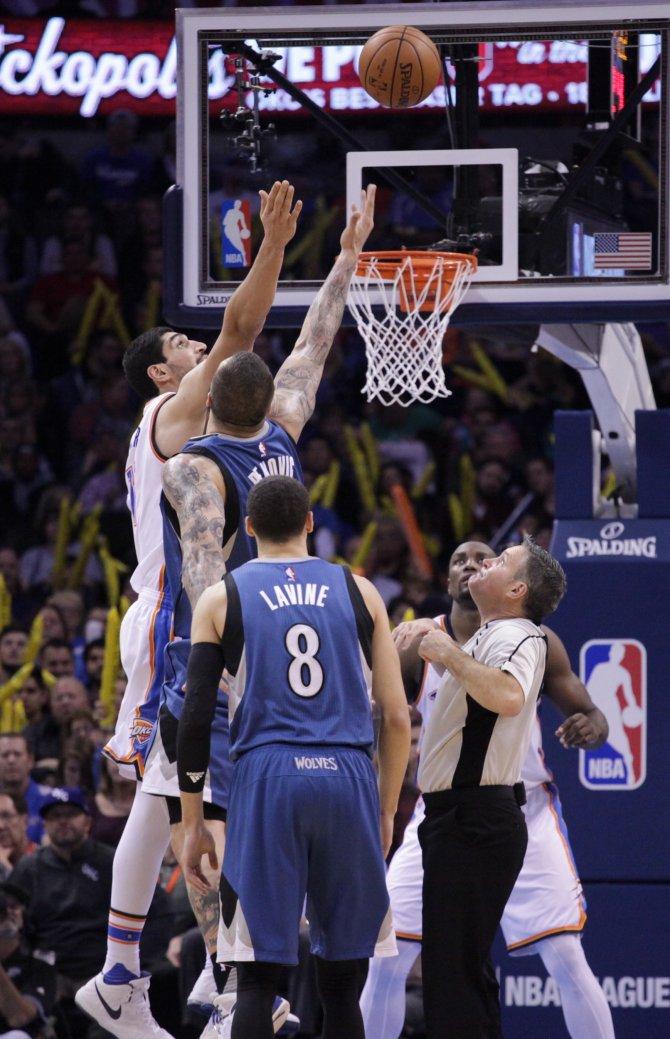 Enes'li Oklahoma City, Minnesota Timberwolves'i rahat geçti