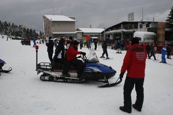 Uludağ'da Kayak Kazası: 1 Yaralı